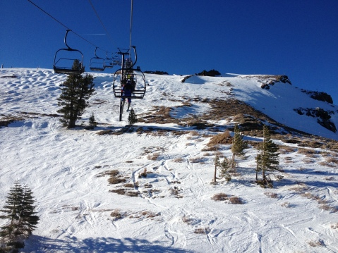 The top of a good, fun run. Bumpy, chunky, and awesome under the lift line.