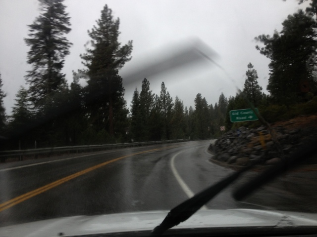 rain on highway 28