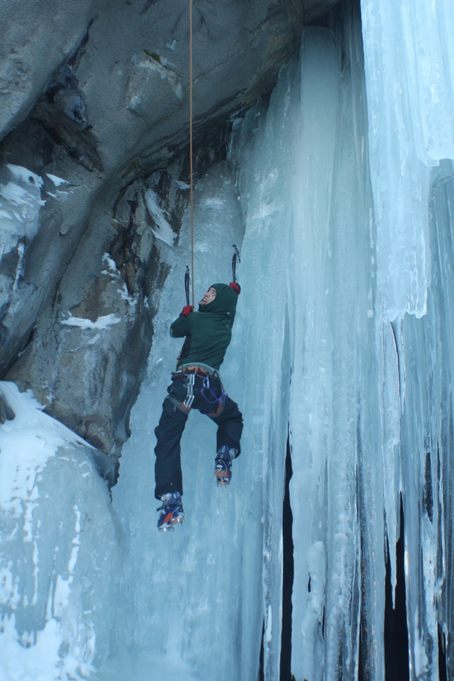 ice climbing tahoe donner tunnel
