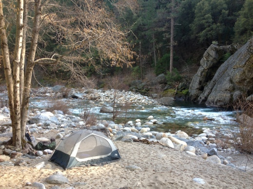 camping on the yuba river