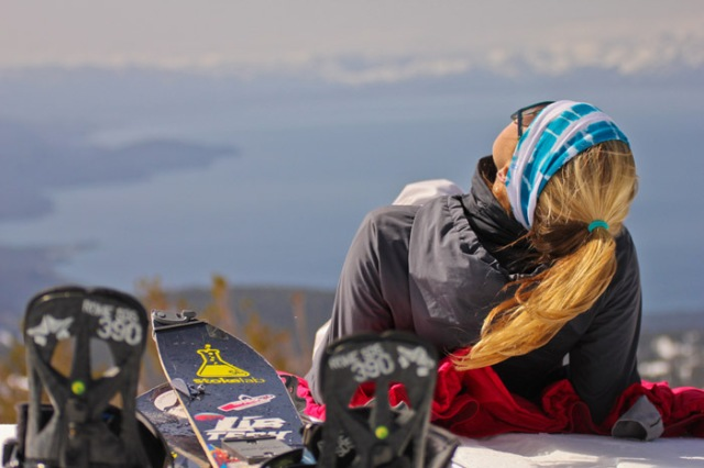 girlfriend splitboarding