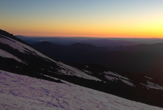 sunrise from mount shasta