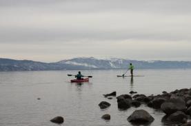 SUP Kayak in January