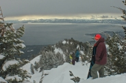 searching for dreamy lines in the Lake Tahoe backcountry