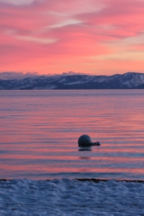 Sunset over Tahoe