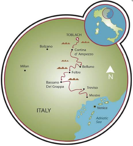 cortina to venice bike ride