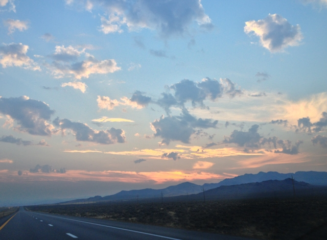 sunrise nevada desert 80 east