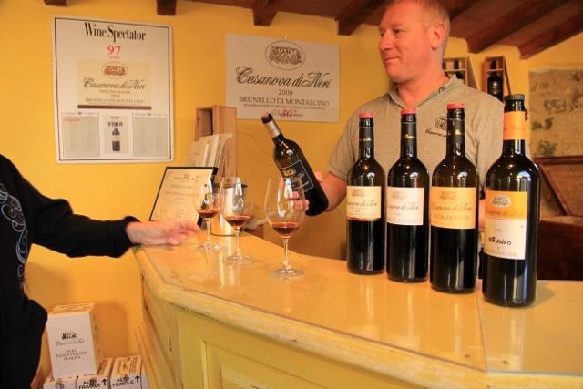 Cassanova di Neri wine tasting, Tuscano