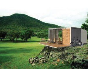 all terrain cabin shipping container home